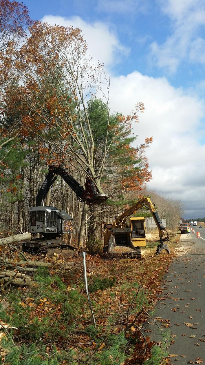 Right of Way Clearing Route 84 Connecticut